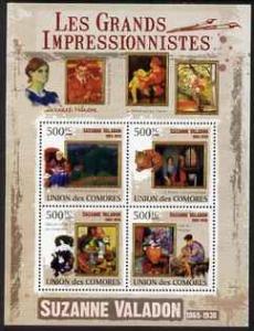 Comoro Islands 2009 Impressionists - Suzanne Valadon perf...