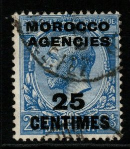 MOROCCO AGENCIES SG195 1917 25c on 2½d BLUE USED
