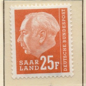 Saarland Germany 1957 Early Issue Fine Mint Hinged 25f. [SKU]]