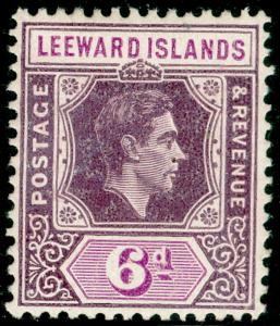 LEEWARD ISLANDS SG109, 6d deep dull purple & brt purple, LH MINT. Cat £28. ©
