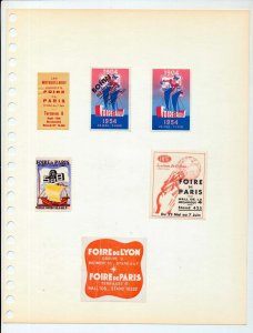 France Paris Foire MH Unused MNH Poster Labels (Appx 70 Items) NS 525