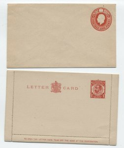 2 unused George V Great Britain stationery items [y6269]