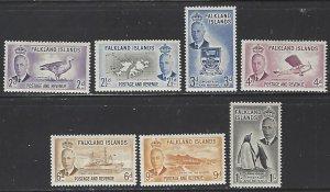 Falkland Islands #109-115 MNH Short Set of 7 cv $74.25