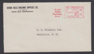 Newfoundland, 1962 Post-Confederation 5c Meter Cover, very late usage