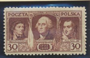 Poland Stamp Scott #267, Mint Hinged - Free U.S. Shipping, Free Worldwide Shi...