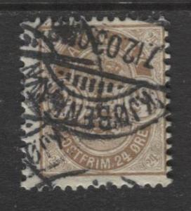 Denmark - Scott 49 - Definitive Issue -1901 - Used - Single 24s Stamp