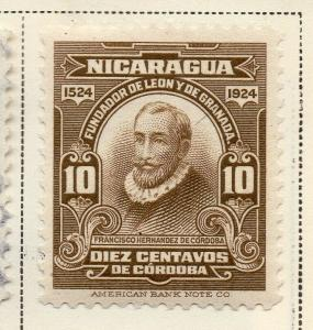 Nicaragua 1924 Early Issue Fine Mint Hinged 10c. 323653