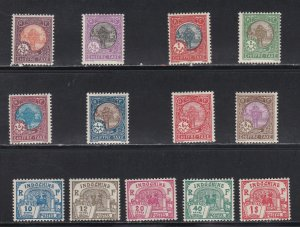 Indo-China # J44-56, Postage Due - Hinged, 1/2 Cat.