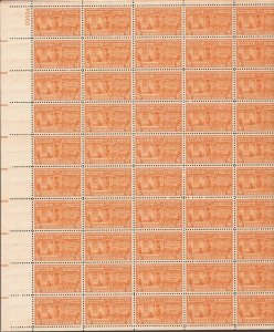 US Stamp - 1931 15c Special Delivery Motorcycle - 50 Stamp Sheet MNH #E16