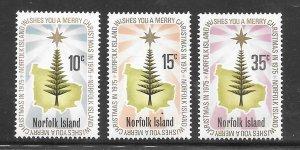 Norfolk Island #187-89 MH Set of 3 (my2)