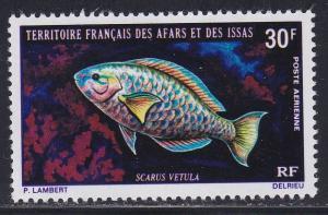 Afars & Issas # C60, Fish, Hinged, 1/3 Cat.