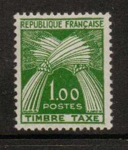 FRANCE SGD1478 1960 1f GREEN MOUNTED MINT