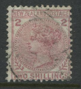 New Zealand 1878 QV 2/ deep rose used