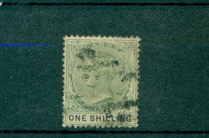 Lagos - Sc# 32. 1887 Victoria 1 Shilling Used. $32.50.
