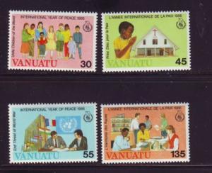 Vanuatu Sc430-3 1986 Peace Year stamps mint