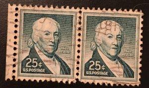 1048 Paul Revere, Circulated Pair, Vic's Stamp Stash