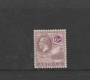 Antigua 1921/9 Script CA 6d MM SG 75