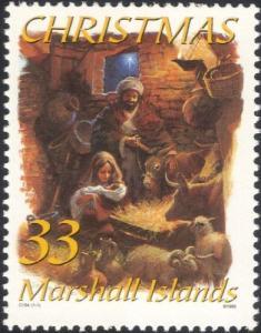 MARSHALL ISLANDS 1999 SC #722 CHRISTMAS NATIVITY SCENE MINT
