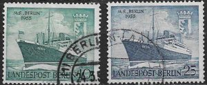 1955 Berlin 9N113-4  MS Berlin and Arms of Berlin C/S of 2 used