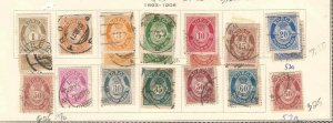 NORWAY 1893+ COLLECTION LOT CANCELS $147 SCV VARIETIES @@@ MOUNTED