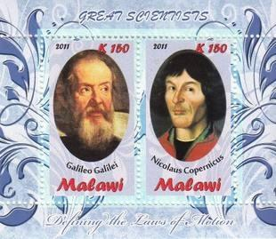 Malawi 2011 M/S Scientists Galileo Galilei Nicolaus Copernicus People Stamps MNH
