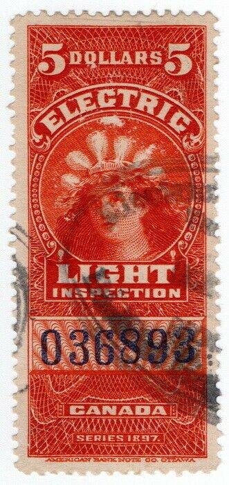 (I.B) Canada Revenue : Electric Light Inspection $5