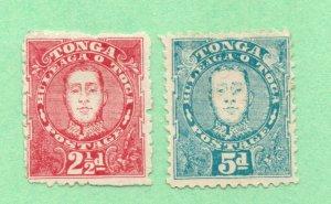 Tonga - SG# 33 & 34 Mint no gum  /   Lot 0221633