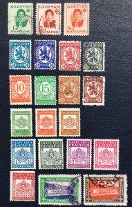 Bulgaria Stamps,1936-7,Sc#293-300,310-11,princess Louise,Q1-8,coat Of Arms