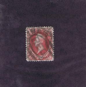 SCOTT# 191 USED 90c PERRY, 1882, REGISTERED CANCEL, WEISS CERT, GRADE 80-85
