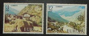 Spanish Andorra 98-99. 1977 Europa, NH