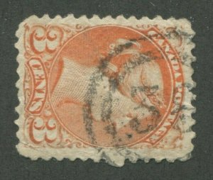 CANADA #37 USED SMALL QUEEN 2-RING NUMERAL CANCEL 38