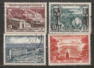 French Equatorial Africa 1956 Sc 189-92 set used