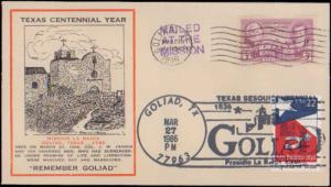 United States, Texas, First Day Cover