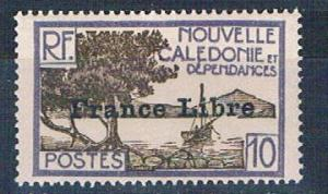 New Caledonia 222 MNH Bay of Paletuviers overprint 1941 (N0591)+