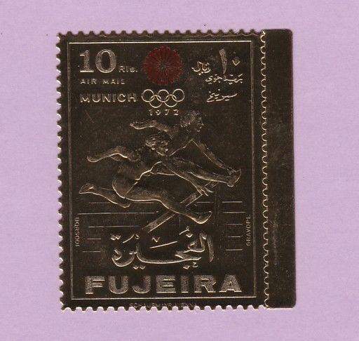 Fujeira, Mi cat. 755 A. Munich Olympics, GOLD FOIL issue. ^