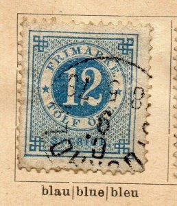 Sweden 1872-87 Early Issue Fine Used 12ore. NW-08911