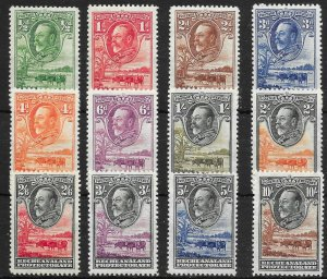 BECHUANALAND SG99/110 1932 DEFINITIVE SET MTD MINT
