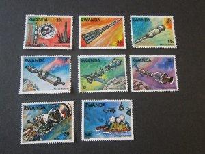 Rwanda 1975 Sc 771-8 space set MNH