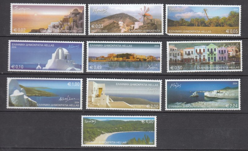J26244  jlstamps 2004 greece set mnh #2165-74 island views, check details