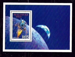 Maldive Is 1272 MNH 1988 Spacecraft S/S
