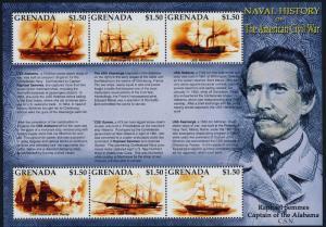 Grenada 3253 MNH Ameican Civil War, Naval History, Warships