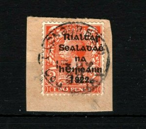 IRELAND 1922 Free State Overprints EIRE *Clonbern Co.Galway* CDS Postmark MS2264