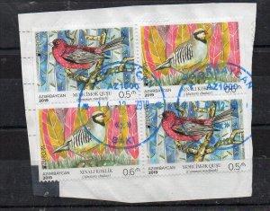 AZERBAIJAN - BIRDS - EUROPA - NATIONAL BIRDS - Unstucked - Stamped - 2019 -