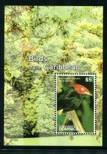 Dominica Sc 2624 Birds Red-capped Manakin MH CV $5.25