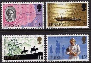 Jersey 1976, Dr Lilian Grandin medical missionary  MNH set # 164-167