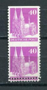 Germany 1948 Am& British Zone 90 pf Variety Pair Imperf Horizontal Mi 90 MH 3372
