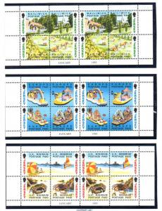 Jersey Sc 617a-5a 1993 NVI stamp booklet panes mint NH