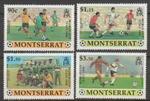 Montserrat SG 828 - 831 set of 4  MLH -  Soccer World Cup