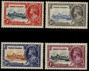 BRITISH VIRGIN ISLANDS GV SG103-106, SILVER JUBILEE set, LH MINT. Cat £25.