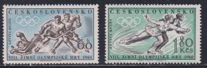 Czechoslovakia # 965-966, Squaw Valley Winter Olympics, NH, 1/2 Cat.